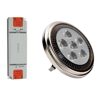 CE Dura AR111 12W LED lamp with matching driver
