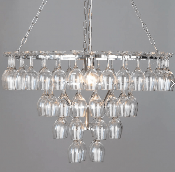 Four Tier 60 Wine Glass Chandelier