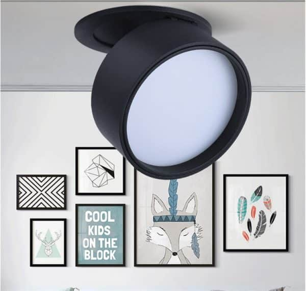 Super Sleek Foldable and Rotatable LED Ceiling Spotlight 7