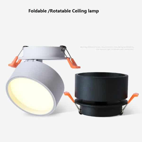 Super Sleek Foldable and Rotatable LED Ceiling Spotlight 4