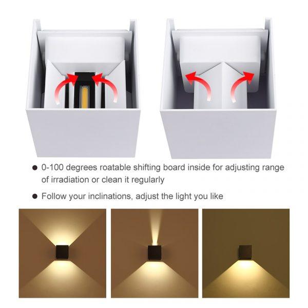Adjustable Waterproof (IP65) LED Wall Lamp_Adjustment