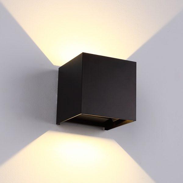 Adjustable Waterproof (IP65) LED Wall Lamp_Black